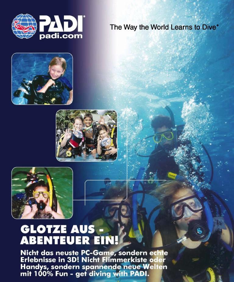 PADI Scuba Diver bringt dich sicher unter Wasser