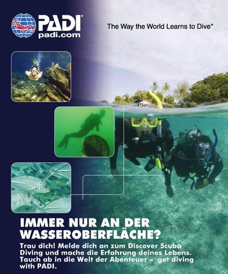 Schnuppertauchen (Discover scuba diving)